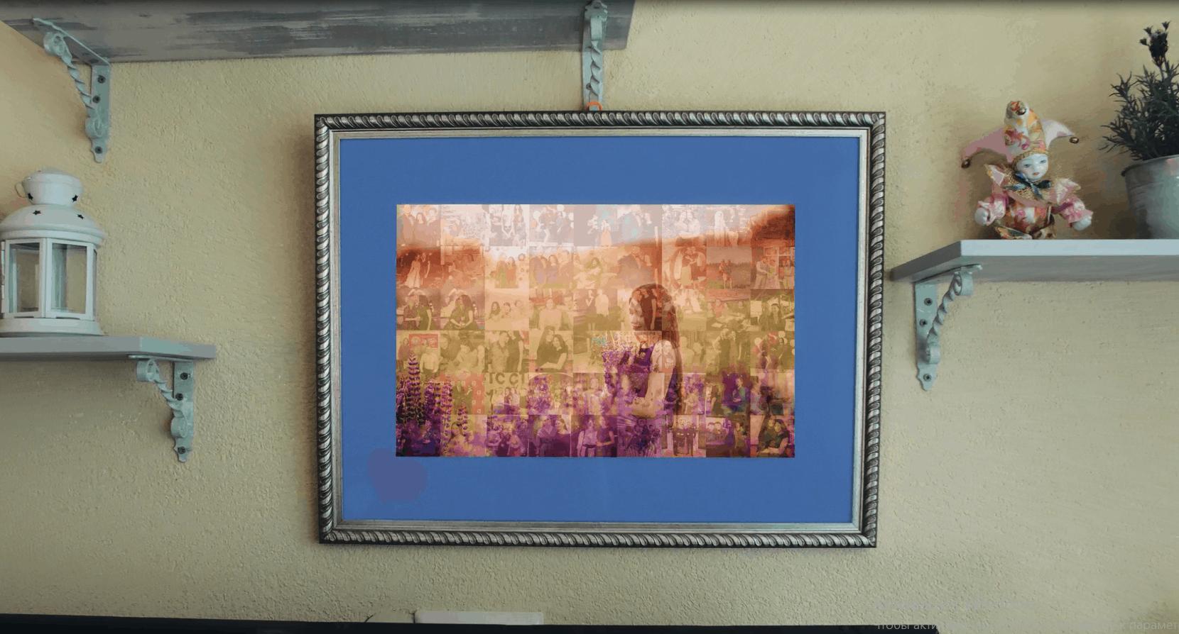obraz z fotomozaiką